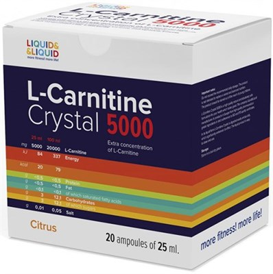 LIQUID & LIQUID - L-Carnitine Crystal 5000 (20x25мл) - фото 4576