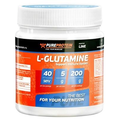 PureProtein - L-Glutamine (200гр) - фото 4755