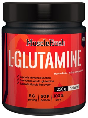Muscle Rush L-Glutamine (250гр) - фото 4977