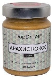 DopDrops Паста Арахис Кокос стекло (стевия) (265гр) - фото 5212