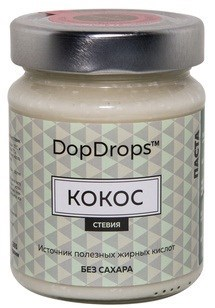 DopDrops Паста Кокос стекло (стевия) (265гр) - фото 5242