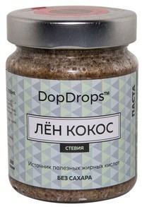 DopDrops Паста Лён Кокос стекло (стевия) (265гр) - фото 5251