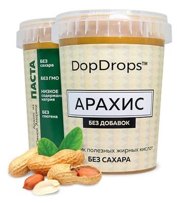 DopDrops Протеиновая паста Арахис (без добавок) (1000гр) - фото 5254
