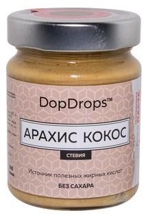DopDrops Протеиновая паста Арахис Кокос стекло (стевия) (265гр) - фото 5265