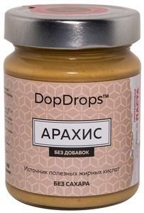 DopDrops Протеиновая паста Арахис стекло (без добавок) (265гр) - фото 5268