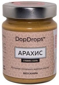 DopDrops Протеиновая паста Арахис стекло (морская соль, стевия) (265гр) - фото 5271