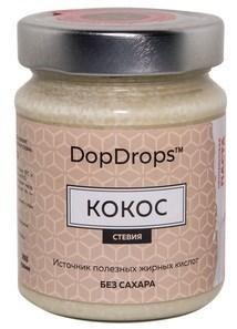 DopDrops Протеиновая паста Кокос стекло (стевия) (265гр) - фото 5277