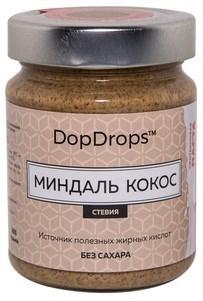DopDrops Протеиновая паста Миндаль Кокос стекло (стевия) (265гр) - фото 5282