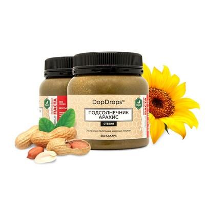 DopDrops Протеиновая паста Подсолнечник Арахис (стевия) (250гр) - фото 5285