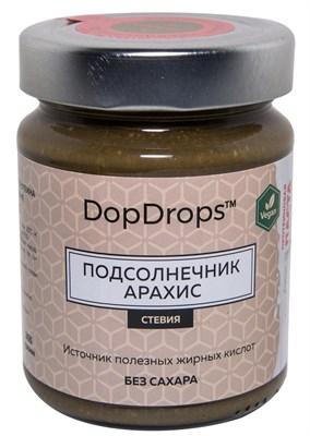 DopDrops Протеиновая паста Подсолнечник Арахис стекло (стевия) (265гр) - фото 5290