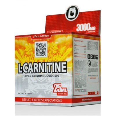 aTech Nutrition - L-Carnitine 3000 Liquid (20x25мл) - фото 5331