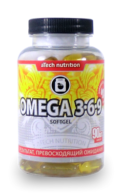 aTech Nutrition - Omega 3-6-9 (90гел.капс) - фото 5334