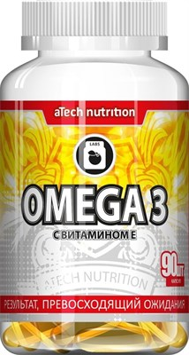 aTech Nutrition Omega 3 +vitamin Е (90гел.капс) - фото 5351