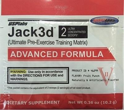 Usplabs Jack3d Advanced Formula (1 порция) пробник - фото 5495