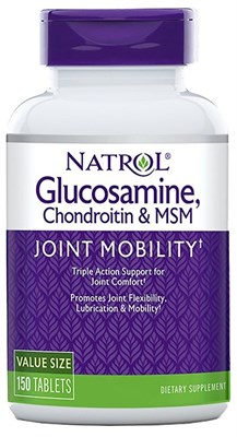 Natrol - Glucosamine Chondroitin & MSM (150таб) - фото 5683