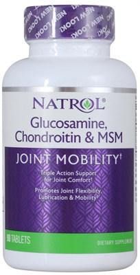 Natrol - Glucosamine Chondroitin & MSM (90таб) - фото 5684