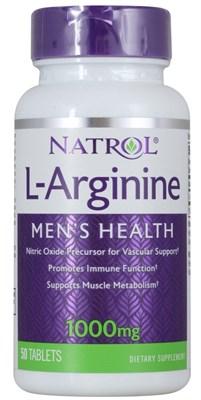 Natrol - L-Arginine 1000mg (50таб) - фото 5691