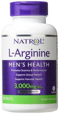 Natrol - L-Arginine 3000mg (90таб) - фото 5693