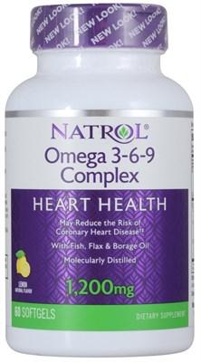 Natrol - Omega 3-6-9 Complex (60гел.капс) - фото 5728