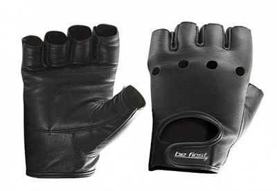 Be First Перчатки кожа черные - фото 5817