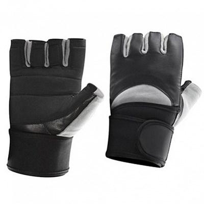 Be First Перчатки черно-серые с жестким фиксатором запястья - фото 5818
