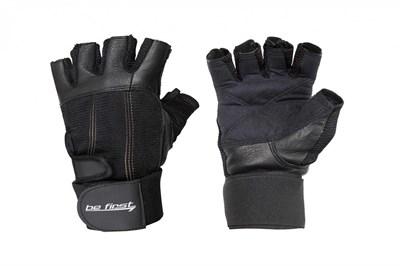 Be First Перчатки черные с фиксатором - фото 5819