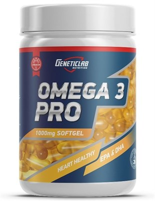 GeneticLab Nutrition - Omega 3 Pro 1000mg (300гел.капс) - фото 5874