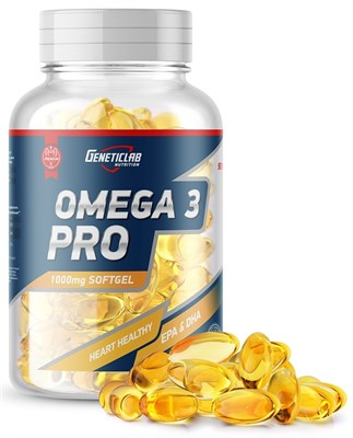 GeneticLab Nutrition - Omega 3 Pro 1000mg (90гел.капс) - фото 5875