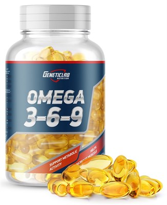 GeneticLab Nutrition - Omega 3-6-9 (90гел.капс) - фото 5876