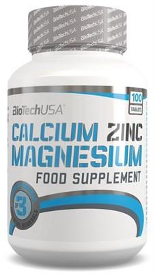 BioTech USA Calcium Zinc Magnesium (100таб) - фото 5921