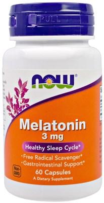 NOW - Melatonin 3 mg (60капс) - фото 6299