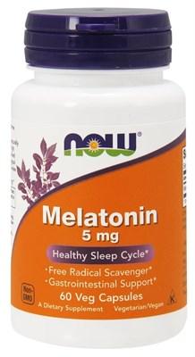 NOW - Melatonin 5 mg (60капс) - фото 6304