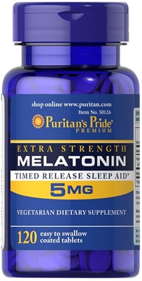 Puritan's Pride Melatonin 5mg (120табл) - фото 6311