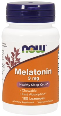 NOW - Melatonin 3 mg (180пастилок) - фото 6331