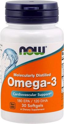 NOW - Omega 3 1000 mg (30гел.капс) - фото 6337