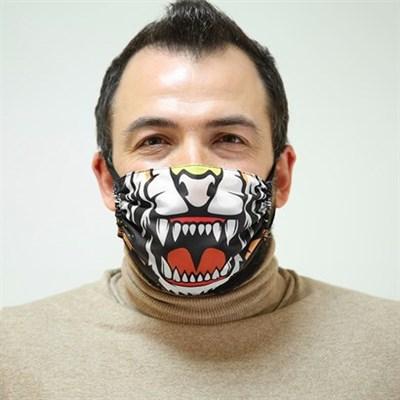 """Маска Ева - защитная фильтрующая многоразовая - """"Морда тигра"""" - фото 6398"""