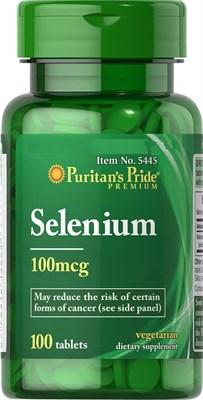 Puritan's Pride Selenium 100mcg (100табл) - фото 6441