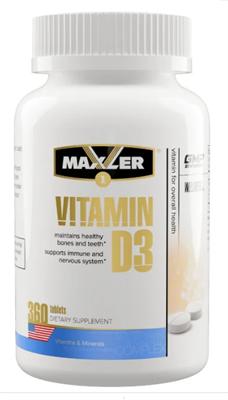 Maxler Vitamin D3 1200 IU (360таб) - фото 6536
