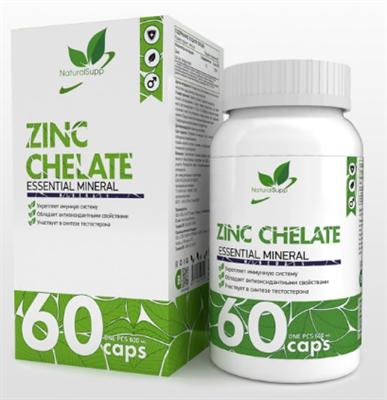 Natural Supp Zinc Chelate (60капс) - фото 6539