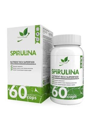 Natural Supp Spirulina 750mg (60капс) - фото 6542