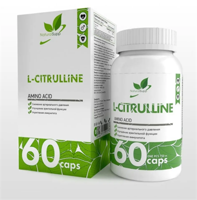 Natural Supp L-Citrulline 750mg (60капс) - фото 6548