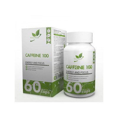 Natural Supp Caffeine 100mg (60капс) - фото 6557