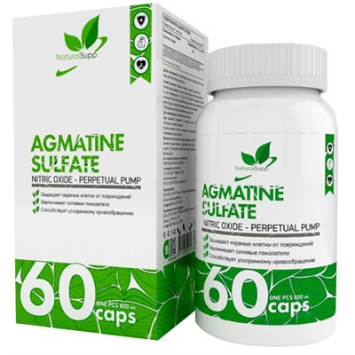 Natural Supp Agmatine Sulfate (60капс) - фото 6562