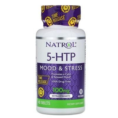 Natrol - 5-HTP 100mg Time Release (45таб) - фото 6670
