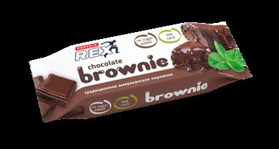 Royal Cake Brownie пирожное протеиновое (50гр) - фото 6678