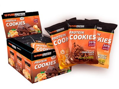 PureProtein - Protein Cookies 35% Protein (80гр) - фото 6691