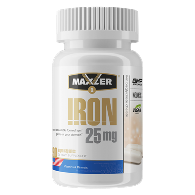 Maxler Iron 25 mg Bisglycinate Chelate (90вег.капс) - фото 6717