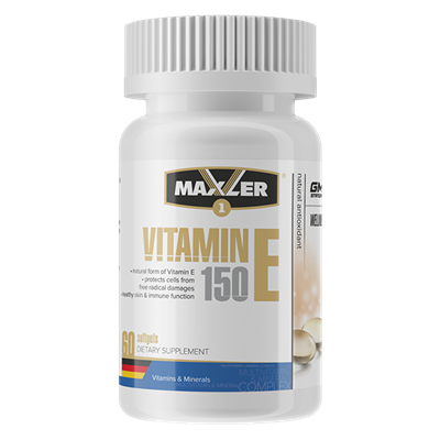 Maxler Vitamin E Natural form 150mg (60гел.капс) - фото 6809