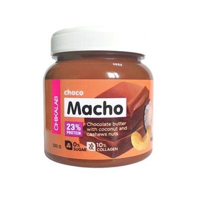 ChikaLab Macho Шоколадная паста с кокосом и кешью (250гр) - фото 7054