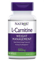 Natrol - L-Carnitine 500mg (30капс)